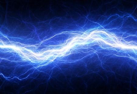Blaue elektrische Blitzschlag - abstrakte elektrische Hintergrund Standard-Bild - 33116207