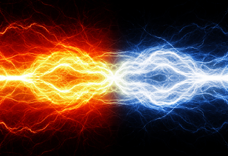 Fire and ice electrical background