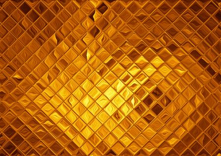 Luxury golden mosaic, abstract gold background Standard-Bild