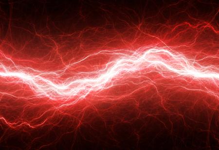 ファンタジー赤雷、電気的背景 写真素材