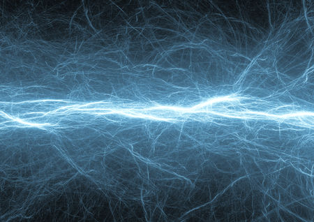 Blue Fantasy abstract electrical lightning