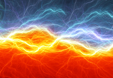 Fire and ice abstract lightning background Stok Fotoğraf