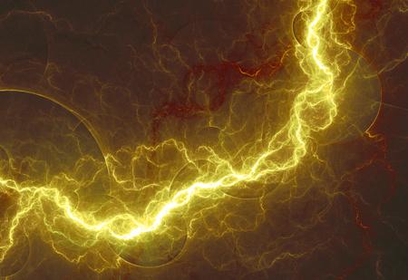 Hot gelben Blitz, abstrakte elektrische Konstruktion Standard-Bild - 33944950