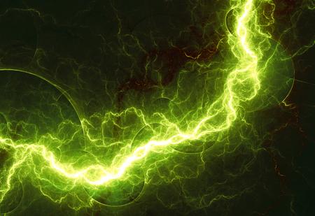 rayo electrico: Fantas�a rayo verde, fondo abstracto fractal
