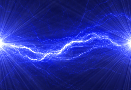 electric: Blue electric lighting, abstract electrical background Stock Photo