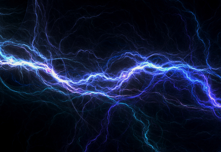Blue electric lighting, abstract electrical background Stok Fotoğraf - 34328521