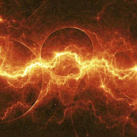 Orange Fantasie Blitzschlag, elektrische Hintergrund Standard-Bild - 34919311
