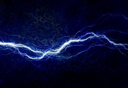 rayo electrico: Iluminación eléctrica azul, fondo abstracto eléctrica Foto de archivo