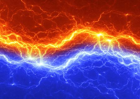火と氷雷の抽象的な背景