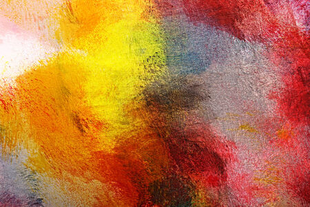 brushwork: Abstract painting close-up