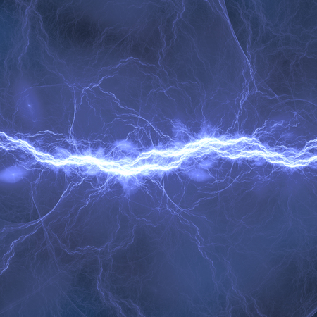 the dazzle: Blue electric lighting, abstract electrical background Stock Photo