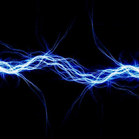 Iluminación eléctrica azul, fondo abstracto eléctrica Foto de archivo