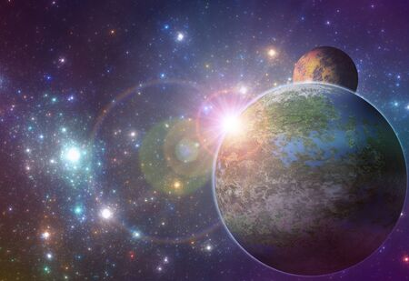 deep: Deep space exoplanet illustration