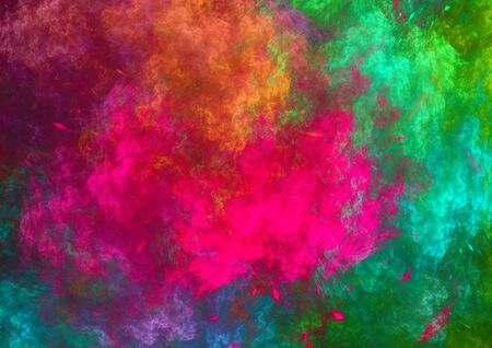 saturated color: Abstractcolorful fractal background, psychedelic color explosion