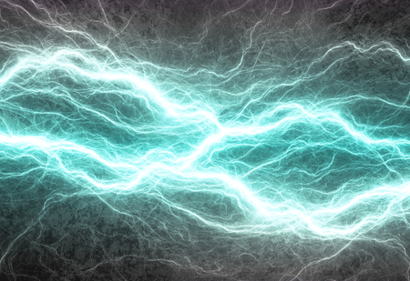 Cyan electric lighting, abstract electrical background
