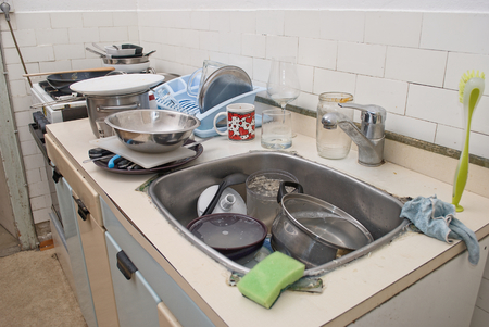 Really dirty and messy old kitchen