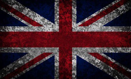 union jack: Old grunge Union Jack, Great Britain flag