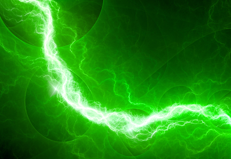 the dazzle: Fantasy green lightning, abstract electrical background