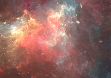 concept magical universe: Fantasy abstract  grunge fractal background.