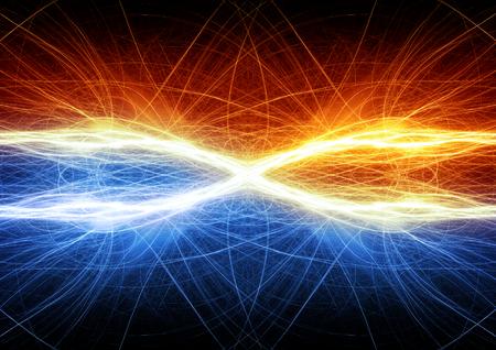 electricidad industrial: Fuego y hielo abstracta rayo fractal