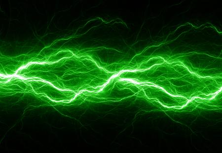 판타지 녹색 번개, 추상 전기 배경 스톡 콘텐츠