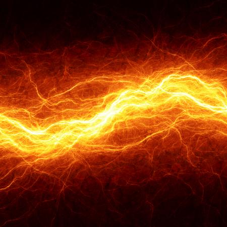 electricidad industrial: Rayo ardiente abstracta, fondo el�ctrica caliente