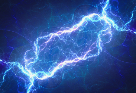 Blue lightning, electrical background 版權商用圖片