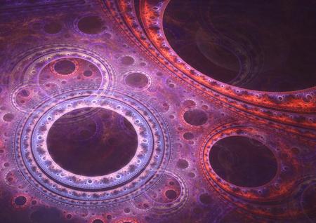 Abstract fraktalen Kreis Hintergrund Standard-Bild - 39321635