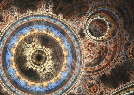 Fantasy steampunk design,mechanical background Standard-Bild