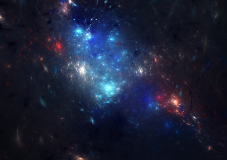 big star: Fantasy abstract universe. Colorful dreamy nebula. Stock Photo