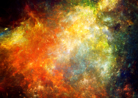 continuum: Fantasy abstract space nebula, grunge background Stock Photo