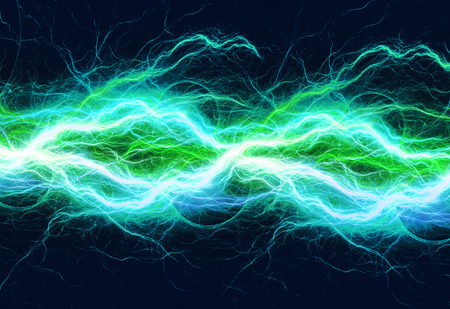 Blue and cyan abstract lightning
