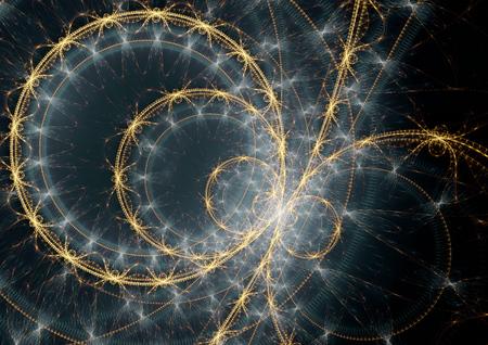 spacetime: Fantasy space clock machine Stock Photo