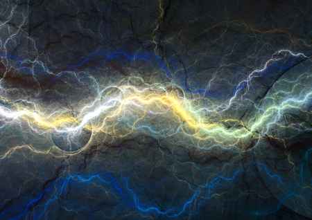 cool colors: Blue fantasy lightning, abstract electrical background