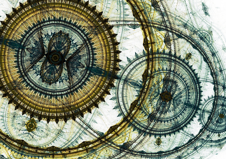 Mechanical background, steampunk abstract