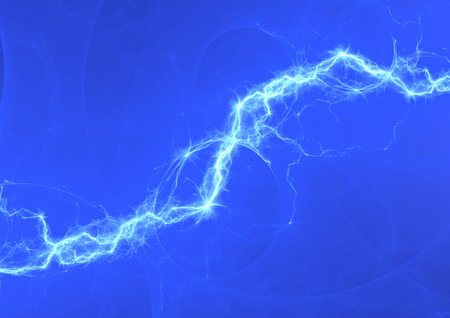 abstract danger: Blue electric lighting, abstract electrical background Stock Photo
