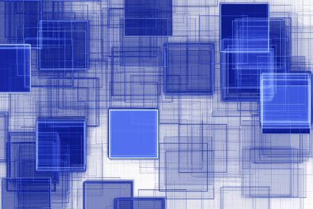 blue abstract: Blue squared abstract background