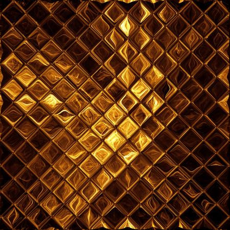 Luxe gouden mozaïek, glanzende gouden achtergrond Stockfoto