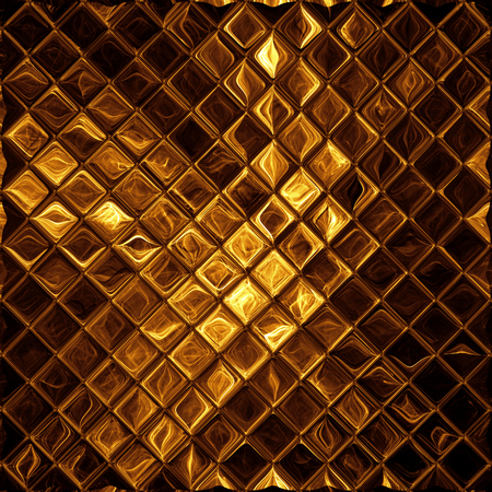 Luxury golden mosaic, shiny gold background Banco de Imagens - 43876099
