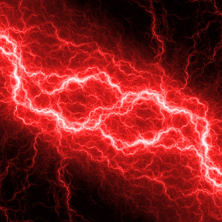 electric shock: Fantasy red lightning, electrical background