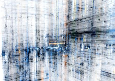 Abstracte stad, moderne fractal ontwerp