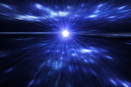 supernova: Night sky with stars - blue stars background with exploding supernova