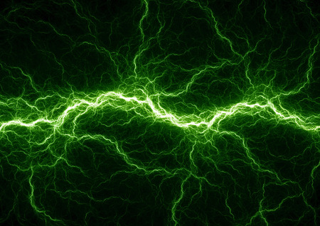 electric blue: Blue electric lighting, abstract electrical storm Stock Photo