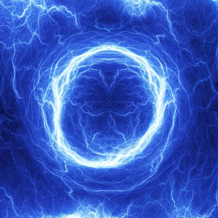 cool backgrounds: Blue coil lightning, electrical background Stock Photo
