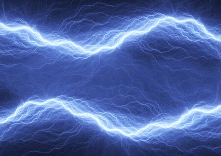 high voltage: Electric lighting, abstract blue storm
