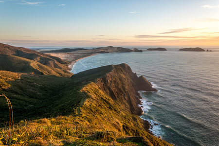 reinga: Cape Reinga, most northern point of New Zealand Stock Photo