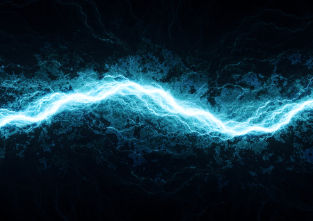 electric blue: Electric lighting, abstract blue storm
