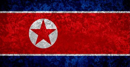 Grunge North Korean flag, flag of North Korea Stock fotó