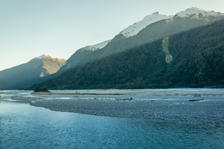 Makarora river under the Haast Pass, New Zealand
