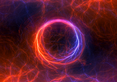 cold fusion: Fire and ice abstract lightning background, clash of the elements